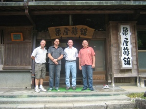Chris, Cameron, Keith and Tony at Kameya Inn